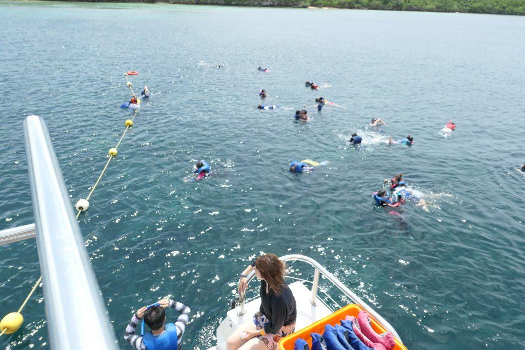 「アルパンビーチクラブ」(ABC)なら、イルカウォッチングだけでなく、オーシャンシュノーケリングと底釣りを同時に楽しめるお得なツアーです!